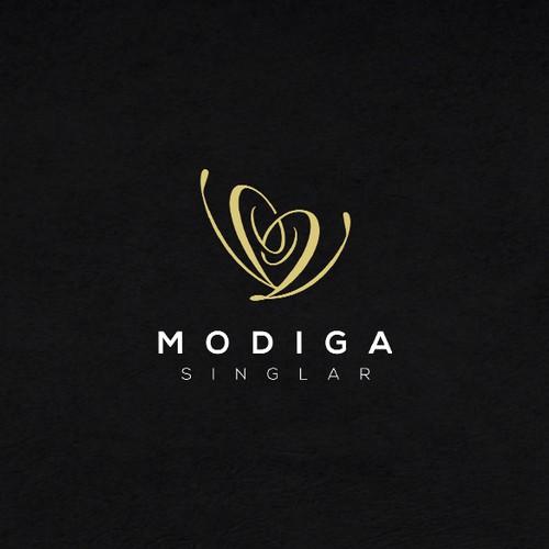 Dating app logo with the title 'Modiga Singlar'