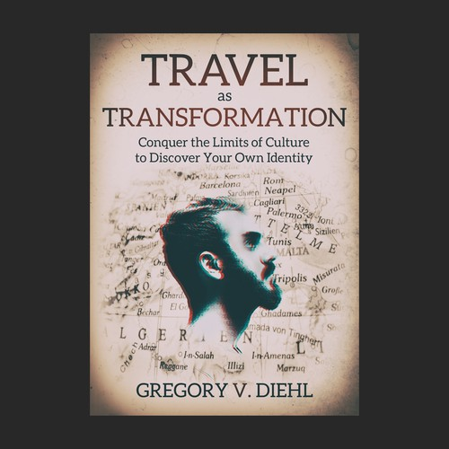 Transformation design with the title 'Travel book design'