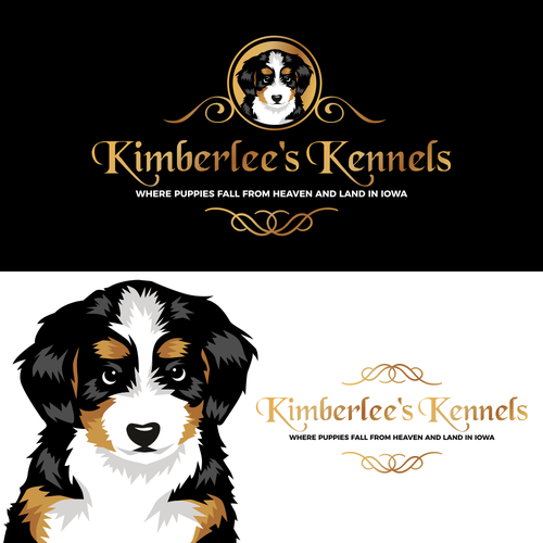 Puppy design with the title 'Kimberlee's Kennels Dogs Care'