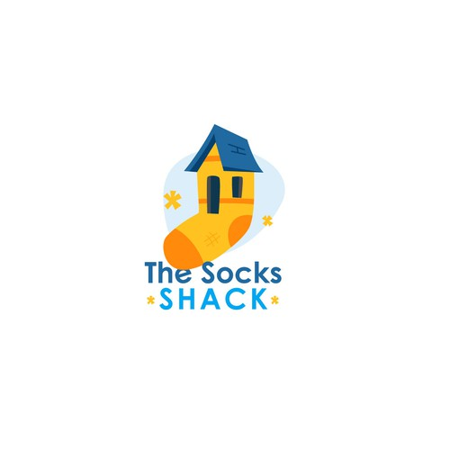 Sock design with the title 'Socks House (For Sale)'