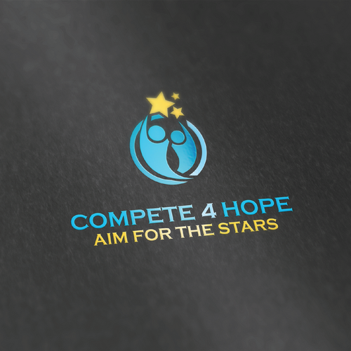 3D gold logo with the title 'Compete 4 Hope'