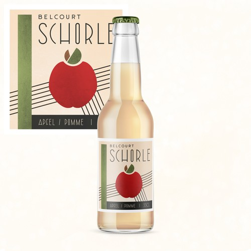 Beverage design with the title 'Creative Label for Apple Spritzer'