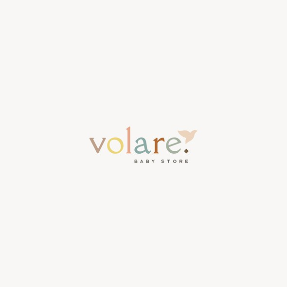 Baby clothing logo with the title 'Volare'