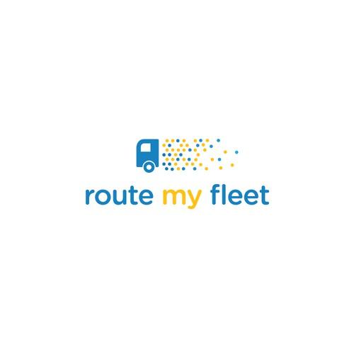 Cargo logo with the title 'Route optimization algorithm logo'