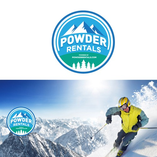 Patch logo with the title 'logo for ski rental'