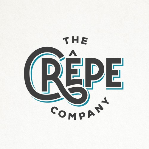 Font design with the title 'HIP AND SIMPLE TYPOGRAPHY LOGO FOR THE CREPE COMPANY '