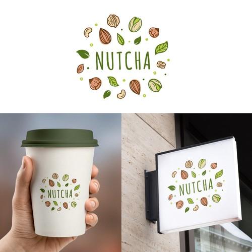 Illustrative design with the title 'A illustrative logo for a vegan-based milk tea brand'