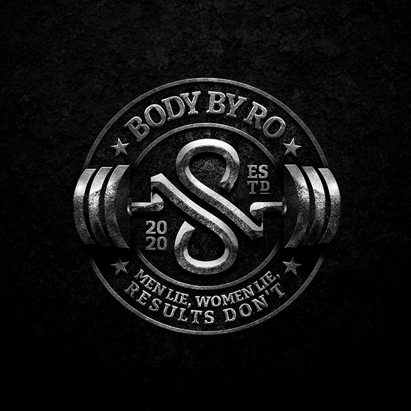 3D infinity logo with the title 'BODY BY RO'