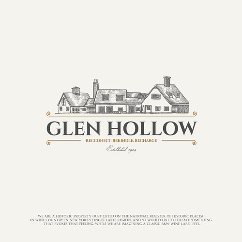 Grey brand with the title 'Glen Hollow'