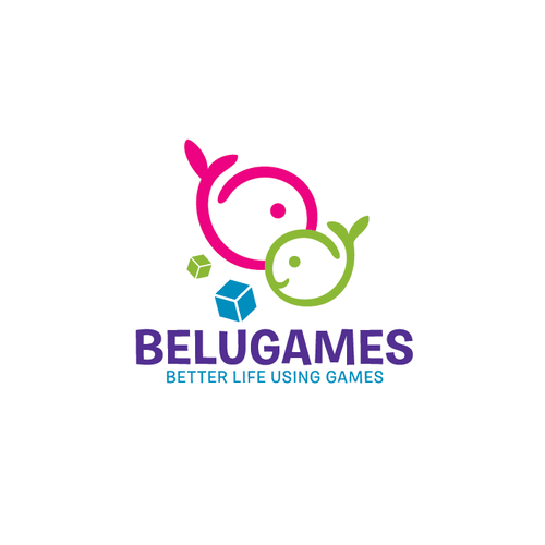 Dolphin design with the title 'Belugames logo'