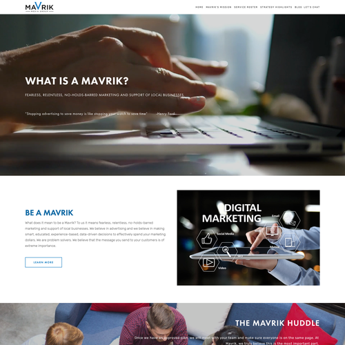 Digital website with the title 'Modern Clean Design for Tech Digital Company'