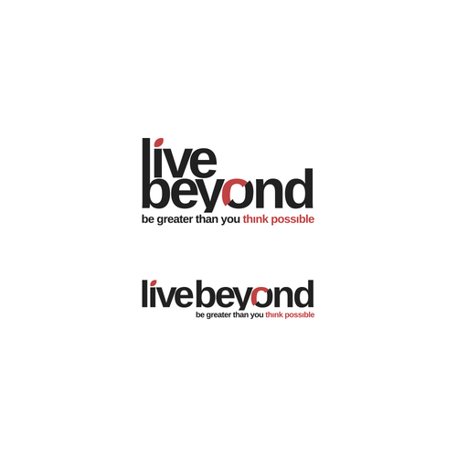 Text logo with the title 'Live Beyond'