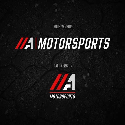 Motorsport logo with the title 'Bold logo for motorsports company'