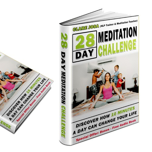 Meditation book cover with the title 'Want to help people discover how 10 minutes a day could change their life? '