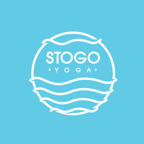 Peaceful logo with the title 'Clean and Neat logo For a Yoga Institue'