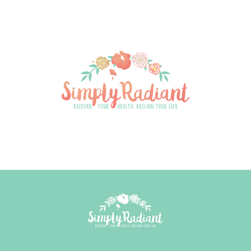 Wreath design with the title 'Simply Radiant Contest '