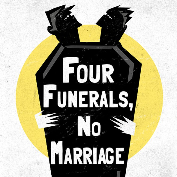 Funeral design with the title 'Memoir book cover design'