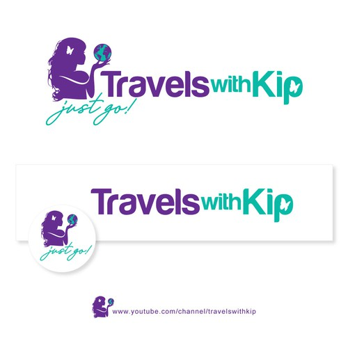 Travel blog logo with the title 'Travels with Kip (just Go!)'