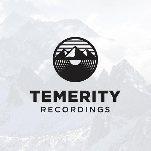 Vinyl design with the title 'Logo design for recording studio'