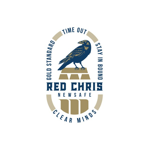 Crow design with the title 'New fresh logo for gold mining company '