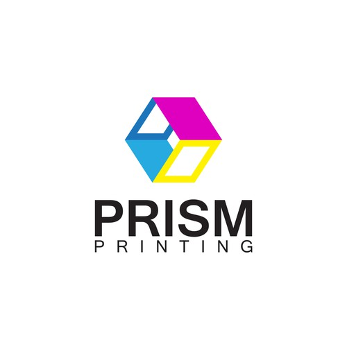 Prism logo with the title 'Abstract 3d logo'