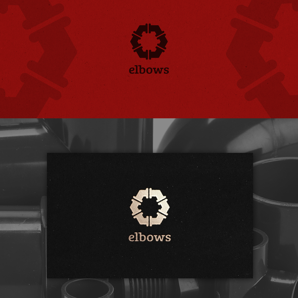 Pipeline logo with the title 'Elbows Company Logo'