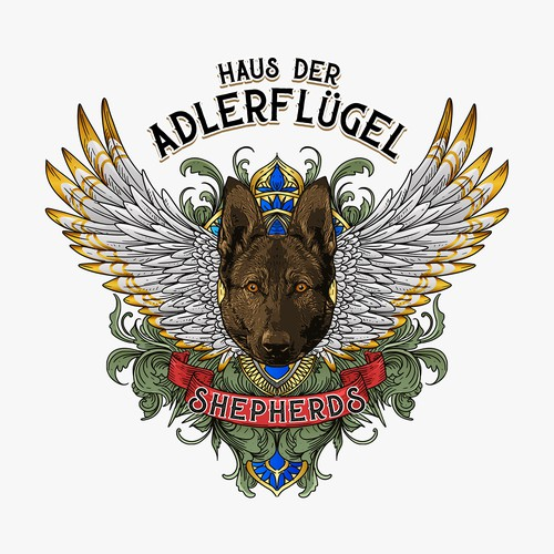 Pharaoh logo with the title 'Classic logo for Haus der Adlerfluger shepherds'