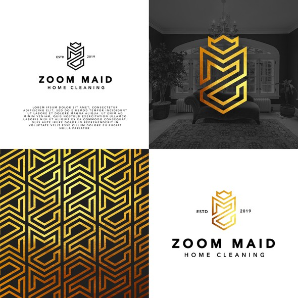 Maid logo with the title 'Zoom Maid Home Cleaning'