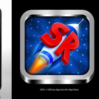 *Prize Guaranteed* iPhone app icon for my new game, SimpleRockets