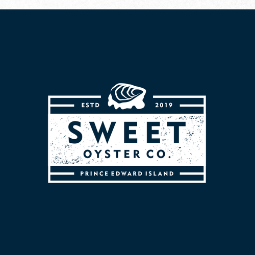 Island design with the title 'Logo Design for Sweet Oyster Company'