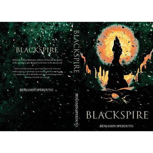 Dark fantasy book cover with the title 'Blackspire'