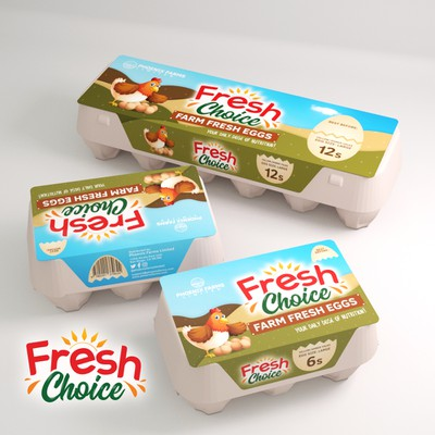 Packaging for Fresh Choice Eggs