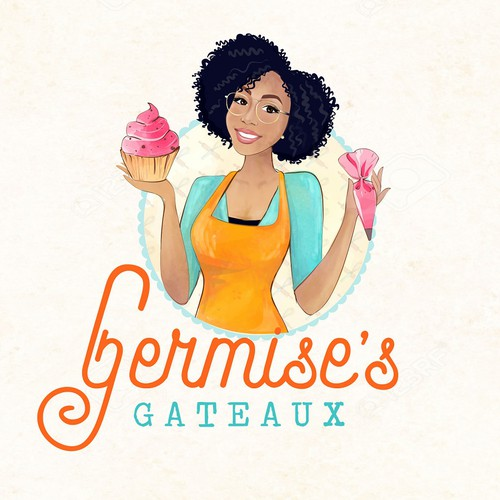 Woman brand with the title 'Bakery Logo'
