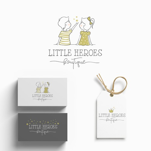 Kids brand with the title 'Little heroes - boutique'