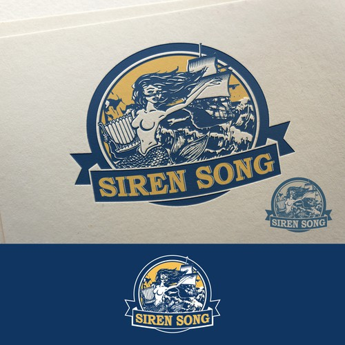 Navy blue design with the title 'Lodo design for Siren Song'
