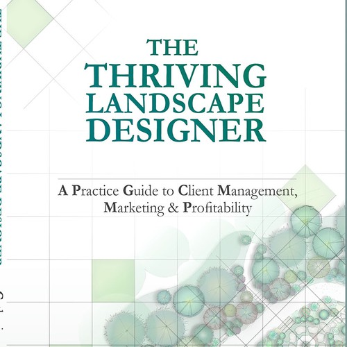 Landscape book cover with the title 'The Thriving Landscape Designer'