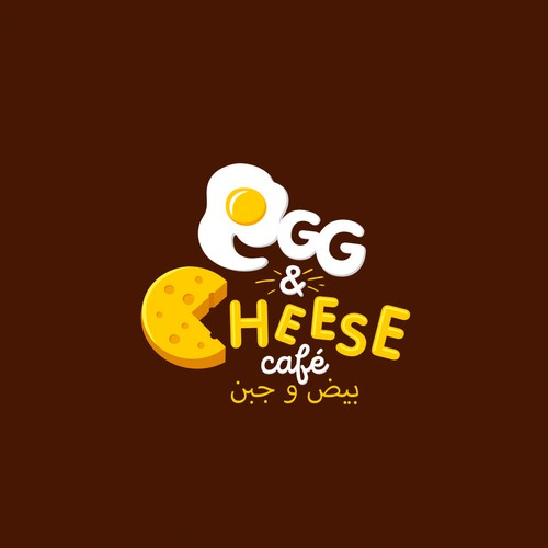 Cheese design with the title 'EGG AND CHEESE'