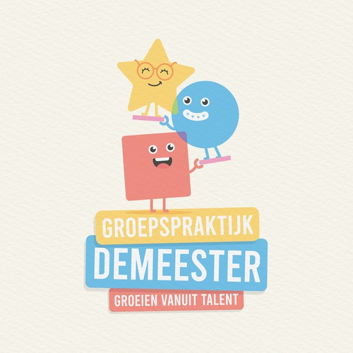 Preschool logo with the title 'Demeester'