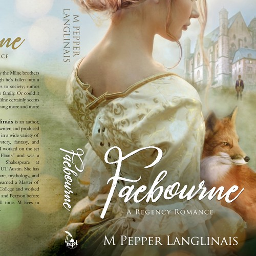 Historical design with the title 'Faebourne - Historical Romance'