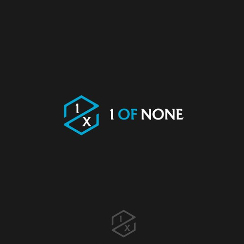 Geometric design with the title '1 OF NONE'