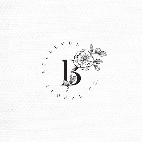 Round vintage logo with the title 'Botanical Illustration'