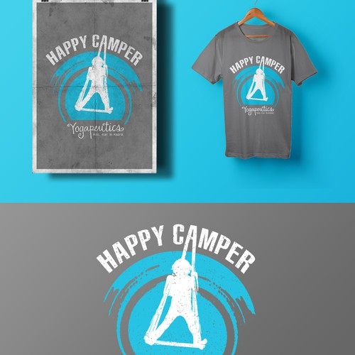 Fun t-shirt with the title 'Happy Camper'