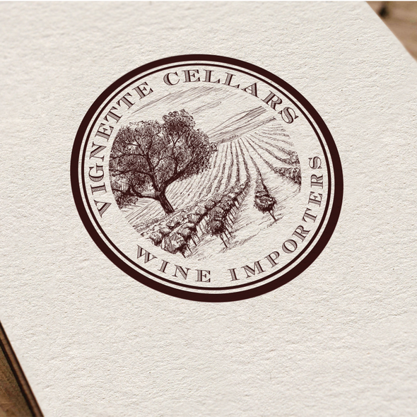Winery logo with the title 'logo for Vignette Cellars'