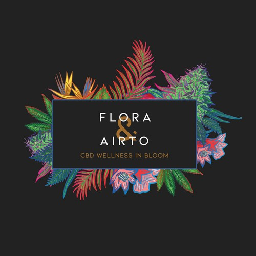 Flower shop design with the title 'flora & airto'