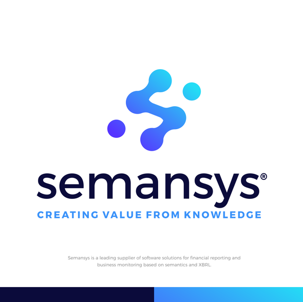 Gradient brand with the title 'Semansys'