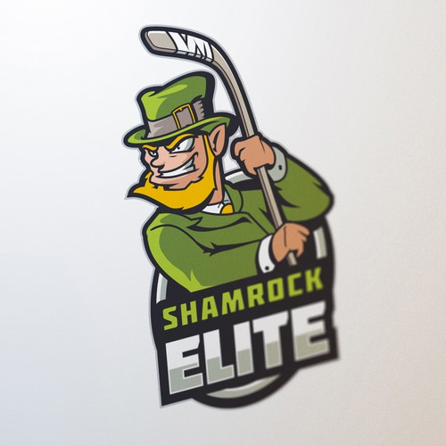 Elite logo with the title 'Shamrock Elite Hockey'