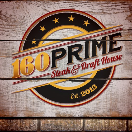 Steak logo with the title '160PRIME Logo'