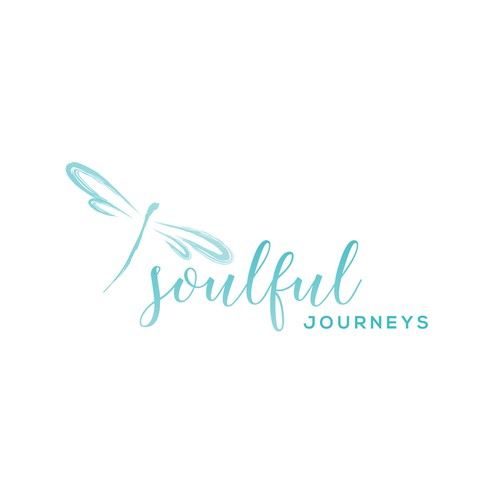 Dragonfly design with the title 'Travelling Blog logo'