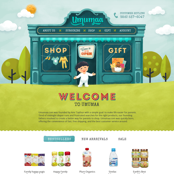 Baby website with the title 'Umumaa Web design'