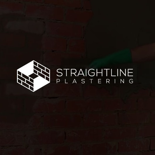 Straight logo with the title 'Straight Line Plastering Logo'